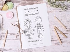 Personalised Colouring Books for Children in Set-Guest gift Wedding coloring Book Guestbook with Questions Wedding Coloring Books Vintage brown Reception Activities, Wedding Activities, Activities For Kids, Best Wedding Favors, Wedding Book, Wedding Ideas, Wedding Lace, Wedding With Kids, Our Wedding Day