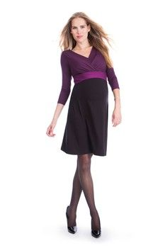 Seraphine Adelaide Nursing Dress in Black/Berry by Seraphine with free shipping