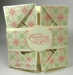 dawn's Stampingthoughts.net.  Awesome Napkin Folding Card from card stock.