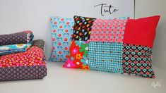 Cute Pillows, Throw Pillows, Coin Couture, Pallet Floors, Applique, Patches, Scrap, Cushions, Sewing