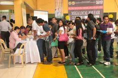 222 job seekers who tried their luck and headed to the Cebu City Sports Center yesterday November 2013 got job from Cebu City Mega Job Fair