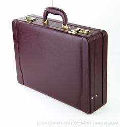STEBCO VINTAGE DELUXE BURGUNDY FAUX LEATHER EXECUTIVE ATTACHE BRIEFCASE MINT NEW #STEBCO #BriefcaseAttache