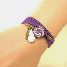 Mon bijou facile: Tutoriel bracelet cabochon et suédine