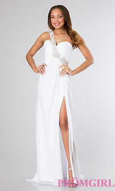 One Shoulder Prom Dress by Night Moves 6424 at PromGirl.com