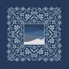 Cross stitch pattern, winter sampler, flowers embroidery