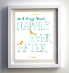 'Happily Ever After' printable wall art