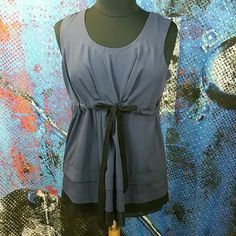 Rock violet cinch waist tank 1012 Modern smokey purple with sheer black detail at hem, tiered. Woven cinch belt foe flattering shape. Shop savvy, bundle and save 25%! Simply Vera Vera Wang Tops Tank Tops