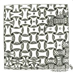 """Huggins"" variants and transitions by Sandy Hunter, Certified Zentangle Teacher CZT"