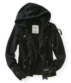 a25ff91509 Fleece Moto Jacket - Aeropostale Aeropostale Outfits