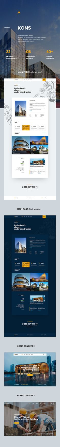 Kons ! Construction PSD Template by LoganCee | ThemeForest