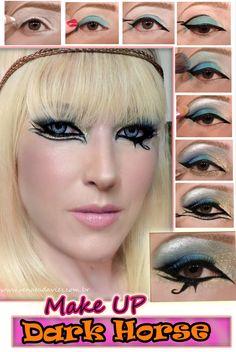 Inspiração de maquiagem para o carnaval.