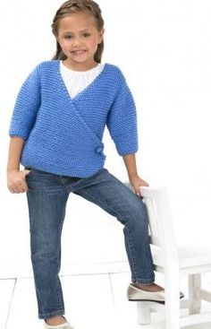 Free+Knitting+Pattern+-+Girl's+Clothes:+Cute+Kimono+Sweater