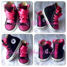 Pink Crystal Rhinestone Custom Converse Shoes by PurseSueYourDream