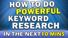 How to do Keyword Research in ANY Niche (100% Success Rate) - http://www.brendanmace.com/how-to-do-keyword-research-in-any-niche-100-success-rate/