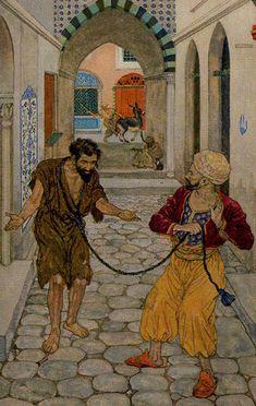 1001 Nights Tarot- XII - The Hanged Man @Pia Lappalainen Lappalainen Lappalainen møller