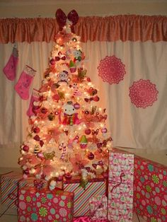 Cupcakes....leopard bows....pink...candy ....flowers...hello kitty Christmas Tree;-)