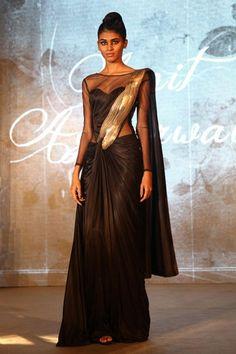 Amit Agarwal - Vogue's Black Sari Project #vogue #amitagarwal #blacksariproject #sari