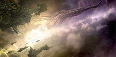 Warhammer Imperial Battlefleet facing down Tyranid hive fleet Warhammer 40k Rpg, Warhammer Fantasy, Tyranid Hive, Battlefleet Gothic, Zen Master, Far Future, Fantasy Battle, Fantasy Art, Tyranids