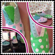 White gym shoes painted with annie sloan chalk paint.