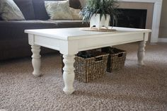 simple & cute painted coffee table