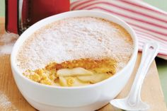 For a classic dessert that is truly satisfying, create this warm rustic pudding packed with apple goodness.