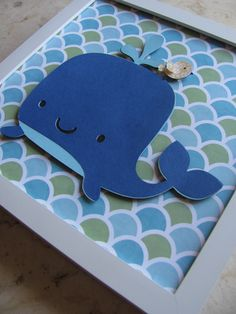 Whale kids room art, nursery art, kids wall art, baby nursery, nautical decor, boys rooms decor. $15.00, via Etsy.