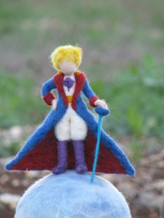 Waldorf inspired needle felted Little Prince soft by Made4uByMagic, $79.00