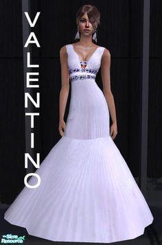 Sims 2 white dress zaful