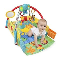 Baby Activity Gym Play Mat Musical Crib Toys Soft Plush Toy Giraffe Rattle Light #BrightStarts