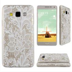 Asnlove Samsung Galaxy A3 Carcasa Gel TPU transparente silicona para samsung galaxy A3-Flores
