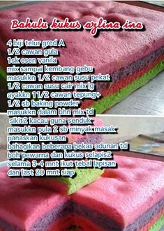 My Recipes, Baking Recipes, Simple Recipes, Cake Cookies, Cupcake Cakes, Cake Oven, Cake Receipe, Resep Cake, Asian Cake