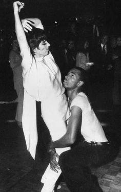 70's...Liza Minnelli & Sterling St. Jacques at Studio 54