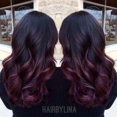 Burgundy ombre on Instagram @ mirror_mirror_onthewall