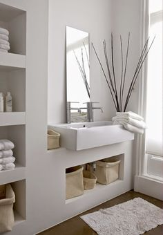 Small bathroom mirrors – If your bathroom is small and you want it to look bigger Midcentury modern bathroom Ikea bathroom Powder room Bathroom inspiration Specchio bagno Mirror ideas Open Bathroom, Attic Bathroom, Bathroom Spa, Bathroom Interior, Bathroom Ideas, Bathroom Furniture, Bathroom Plans, Brown Bathroom, Bathroom Cabinets