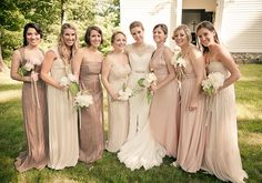 blush bridesmaid dresses | photos by Gary Ashley with the Wedding Artists Collective | 100 Layer Cake