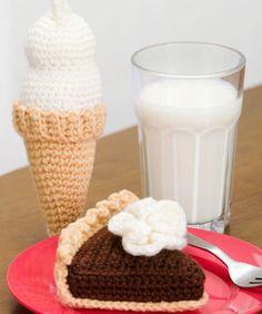 Chocolate Pie & Ice Cream Cone: free patterns