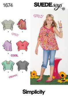 Simplicity Creative Group - Girls' Tops SUEDEsays Collection