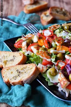 Halloumi, Grill Party, Cobb Salad, Catering, Grilling, Salads, Food And Drink, Meat, Chicken
