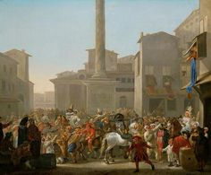 Johannes Lingelbach - Karnaval in Rome