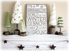 Today's Fabulous Finds: Marshmallow Wonderland Vignette {6 Tutorials}