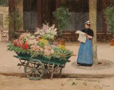 Victor Gilbert | La marchande de fleurs