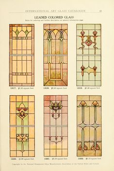 International Art Glass Catalogue, National Ornamental Glass Manufacturers Association of the United States and Canada 1914