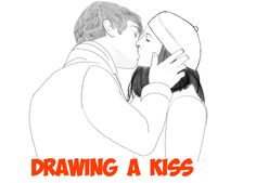 Today we will show you how to draw 2 people kissing. These young man looks like he is in love with this young woman and they are sharing a romantic kiss. He is holding her face while he kisses her, which shows deep affection.