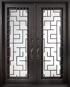 Iron Doors Unlimited Bel Sol Classic Full Lite Painted Oil Rubbed Bronze Decorative Wrought Iron Entry at The Home Depot House Gate Design, Window Grill Design, Front Door Design, Contemporary Front Doors, Modern Entrance, Gate Designs Modern, Tor Design, Maze Design, Wrought Iron Doors