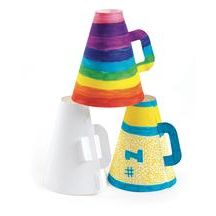 Discount School Supply - Spirit Megaphones - Set of 30- $15great fundraiser idea for youth football clinics. While the boys are playing set up a make your own megaphone for the girls and little  ones!