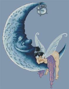 Sweet Dreams - Fairy Sleeping on the Moon by Pascal Moguerou