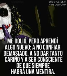 Joker Frases, Joker Quotes, Sarcastic Quotes, Funny Quotes, Life Quotes, Sad Love Quotes, Badass Quotes, Joker And Harley Quinn, Queen Quotes