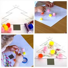 Decorate the Christmas Tree Toddler activity no: 36 #toddleractivities #kidscraft #christmas