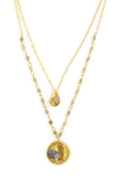 Chan Luu - Labradorite Double Strand Necklace, $170.00 (http://www.chanluu.com/necklaces/labradorite-double-strand-necklace/)