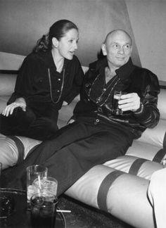 Yul Brenner and Doris Kliener at Studio 54, 1978